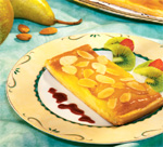 Торт с грушами a la frangipane